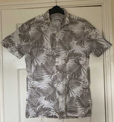 £0.99 • Buy *primark* Mens Tropical Leaf Print Shirt Size Small