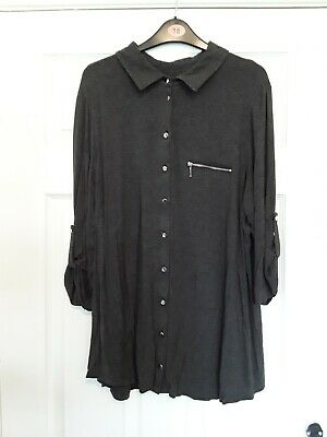 £1.99 • Buy Simply Be Grey 3/4 Sleeved Longline Top Size 20 Excellent Condition.