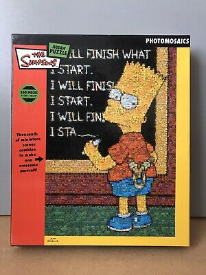 £9.99 • Buy The Simpsons Photomosaics 550 Piece JIGSAW PUZZLE By BV Leisure