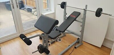 £23 • Buy York Multigym Bench With Weights, Dumbells And Barbell.