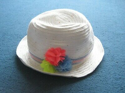 £2 • Buy Girls White With Sequins Summer Sun Hat  Matalan 8-9, 9-10, 10-11, 11-12, 12-13