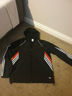 $ CDN11.86 • Buy Adidas Men's Hooded Jacket. Size UK L. Red And White Stripes.