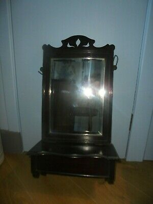£60 • Buy Arts And Crafts/Late Victorian Hall Mirror With Candle/Glove Box/ Shelf