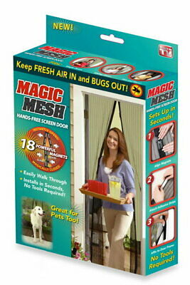 £8.99 • Buy Magic Mesh Magnetic Curtain Door Fastening Mosquito Fly Bug Insect Net Screen
