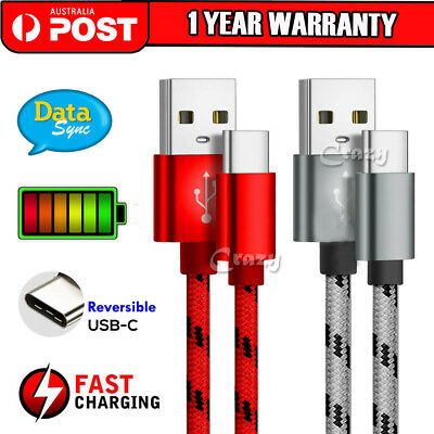 AU5.45 • Buy USB-C 3.1 Type C Cable Fast Charge For Samsung S21 S20 Ultra S10 5G S9 S8 Plus