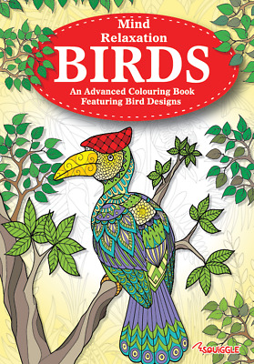 £2 • Buy MINDFULNESS Mind Relaxing Kids Or Adult Colouring Books For Stress Relief Birds