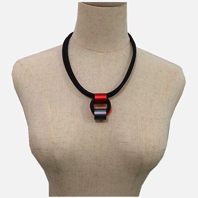 AU10.49 • Buy Round Matching Necklace For Women Punk Style Double Layer Rope Rubber Necklaces