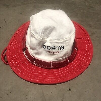 $ CDN158.88 • Buy Supreme Logo Embroidery Hat Campus Red T05 Excellent