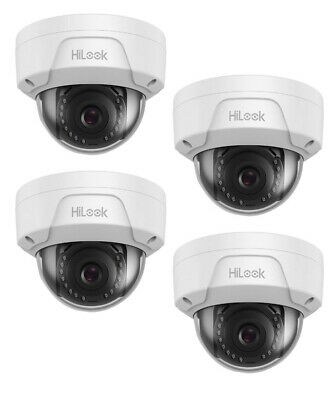 £39.99 • Buy 4 X 1MP PoE Network IP White HD Dome CCTV Security Camera 2.8mm Lens IP67 30m IR