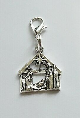 £2.35 • Buy Nativity Charm Jesus Stable / Christmas Charm With A Clasp Xmas Charm Clip On