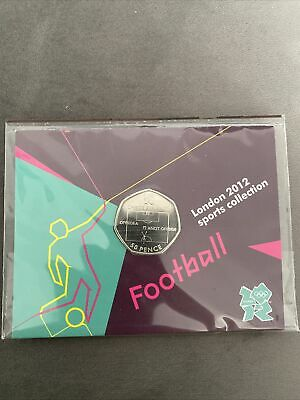 £2.64 • Buy Football 2011 50p Fifty Pence Coin In Official London 2012 Olympic Sealed Card
