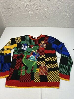 $10.80 • Buy HOLIDAY TIME UGLY CHRISTMAS SWEATER In Men's  Sz. XL ~ T-Rex.    C