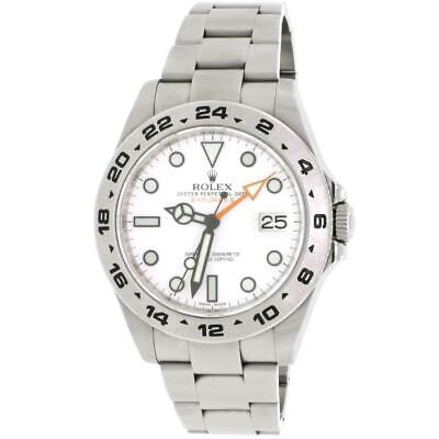 $ CDN15956.46 • Buy Rolex Explorer II 42MM White Dial Polar Stainless Steel Oyster Watch Box Papers