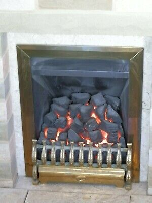 £36 • Buy Phoenix Gas Convector Fire Inset Real Coal Fire Effect