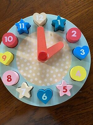 £2.50 • Buy Wooden Shape Sorting  / Teaching Clock Puzzle