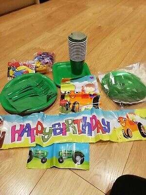 AU33.21 • Buy Tractor/farm/ John Deere Party Supplies/decorations/banners/balloons/plates. NEW