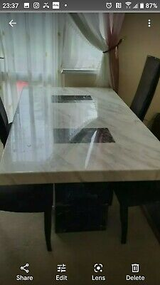 £600 • Buy Marble Dining Table And Chairs