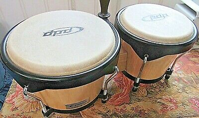 £35.46 • Buy Pacific Drums BONGOS 7 & 8  Inch SET WOOD CLEAR FINISH Tucked Skin On Top
