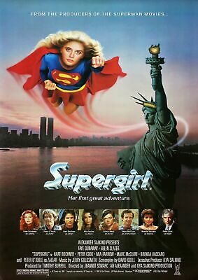 £1.29 • Buy DC Supergirl 80s Movie Poster Iron On T-Shirt Transfer A5