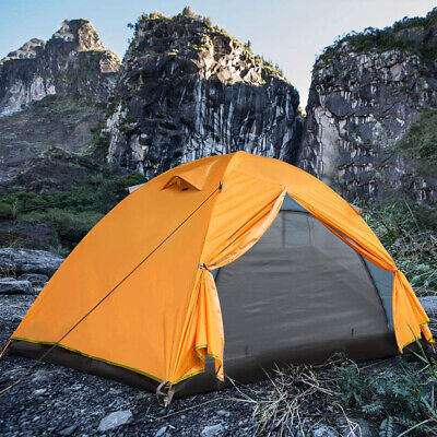 £42.99 • Buy 2-3 Man Persons Double Layer Camping Tent Outdoor Hiking Beach Dome Sun Shelter