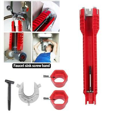 £6.85 • Buy Faucet And Sink Installer Multi Tool Pipe Wrench For Plumbers And Homeowners Hot