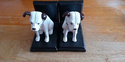 £25 • Buy Pair HMV NIPPER BOOK ENDS Each 5 X 4.5 X 3 Inches. Could Be Used As Doorstops