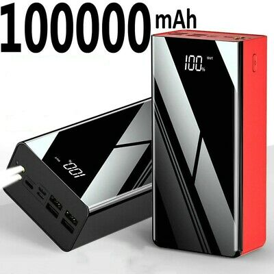 AU79.45 • Buy Power Bank 100,000mAh Portable Fast Charging Mobile External Battery Charger New