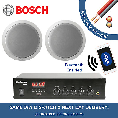 £179 • Buy Bosch Bluetooth Music System For Cafe, Restaurant, Shop - Amp + Ceiling Speakers