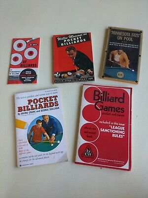 £7.24 • Buy 4 Books -WILLIE MOSCONI ON POCKET BILLIARDS, Pool Games Fats Book