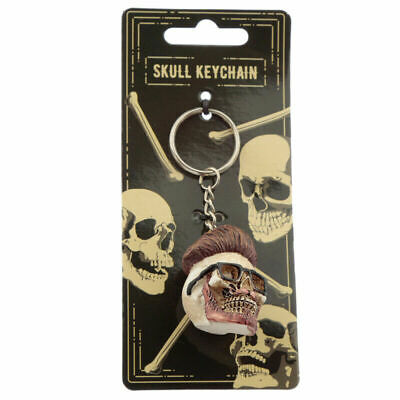 £4.79 • Buy Collectable Hipster Skull Keyring Novelty Key Chain