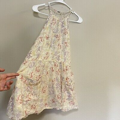 AU1.67 • Buy Urban Outfitters Kimchi Blue Size L Dress Floral Yellow White Summer Beach Boho