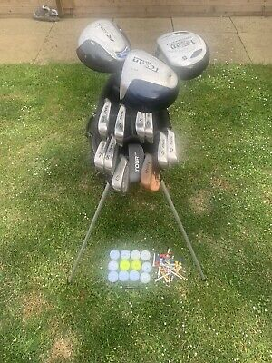 AU119.92 • Buy Full Set Of Mens Golf Clubs 3 Woods, 10 Irons & Putter In Carry / Stand Bag