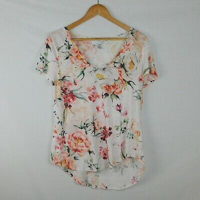 AU19.95 • Buy Size S WITCHERY 100% Linen Tee - Floral