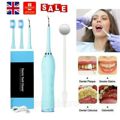 £16.55 • Buy Tooth Clean Dental Scaler Ultrasonic Teeth Whitening Tartar Plaque Stain Remover