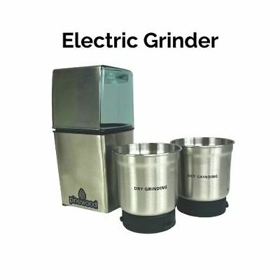 £19.99 • Buy Electric Grinder For Dry And Wet Ingredients - Stainless Steel - Pinewood