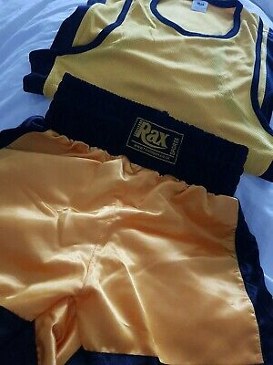 £13.99 • Buy Bnwot Boys Rax Sports Boxing Shorts And Vest Age 3-4 Years