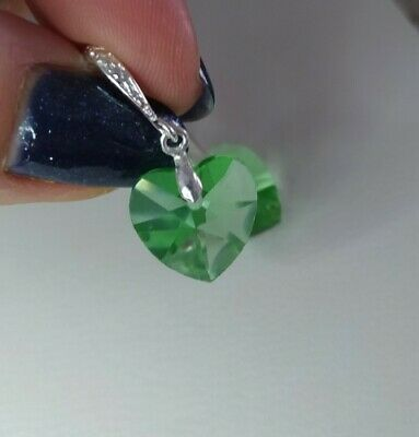 AU5.52 • Buy Unwanted Gift Crystal Elements Green Heart Earrings New From Next