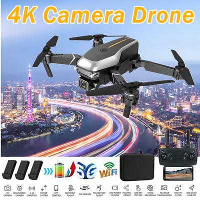 AU58.99 • Buy Drones With HD 4K Dual Camera Follow Me RC Brushless Wifi FPV Drone + 3XBattery