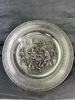 £14.99 • Buy Zinn Pewter Tin Etain 95% Pewter - 9.5 Inch Plate ( Musketeers Time Period ?)