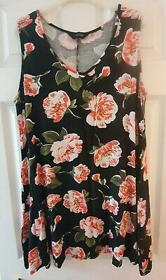 £1.20 • Buy Yours Clothing Size 18 Floral Long Line Top A Line Flattering Plus Size