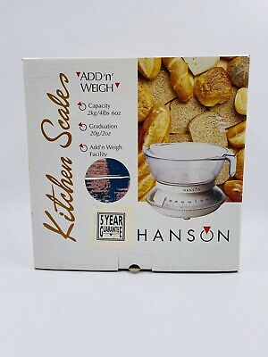£11.99 • Buy Hanson Add 'n' Weigh Kitchen Scales Chrome Up To 2kg NEW