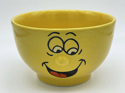 £3.99 • Buy A&p Ware Ceramic Funny Face Yellow 3d Cereal Bowl
