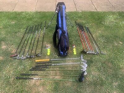 AU73.79 • Buy Childrens Golf Clubs  Ping, Wilson & Us Kids Gold 7 Woods, 10 Irons & 4 Putters