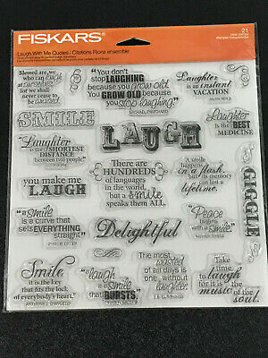 £8.95 • Buy FISKARS Laugh With Me Quotes Stamp Set