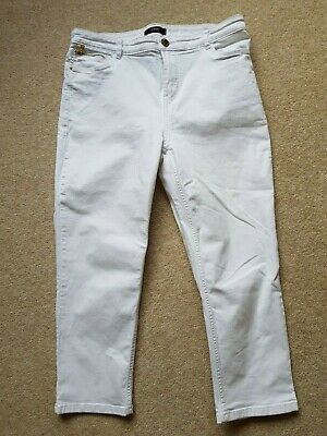 £4.99 • Buy Marks And Spencer Cropped Jeans Size 14 Soft White