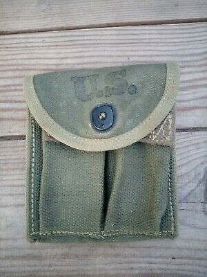 $36 • Buy Authentic Wwii Ww2 1943 M1 Carbine Butt Stock Or Belt Pouch Transitional Army