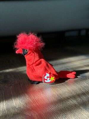 $30 • Buy Ty Mac The Cardinal Beanie Baby With Tag Errors