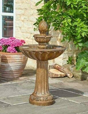 £139 • Buy Smart Solar Powered Queensbury Fountain Stone Effect 3 Tier Water Feature