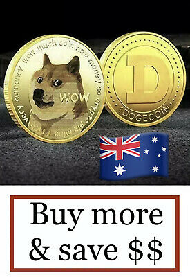 AU5.65 • Buy Dogecoin Commemorative Gold Plated Doge Coin Gift Collectible Like Bitcoin 🇦🇺