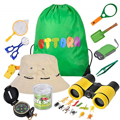 £20.50 • Buy UTTORA Outdoor Explorer Kit Kids Toys,25 Pieces Birthday Present For 8+ Years